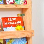 Çocuk Odası Eğitici Montessori Mobilya Kitaplık Raf Duvar Rafı 5 li-5