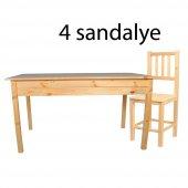 Ahşap Mutfak Masa Sandalye Takımı Yemek Masası...