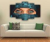 Kadın Ve Gözler Dekoratif 5 Parça Mdf Tablo