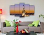 Istanbul Kız Kulesi Dekoratif 5 Parça Mdf Tablo
