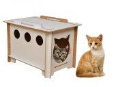 Ahşap Kedi Evi Yatağı Kulübesi Yuvası Evcil Hayvan Kedi Köpek Evi Yuvası Kutusu Barınağı Kafesi-5