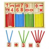 Montessori Matematik Eğitim Materyal Seti Ahşap
