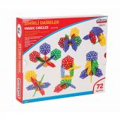 Sihirli Daireler 72pcs Eğitici Lego Oyun Seti