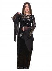 Permir Siyah Payet Elbise