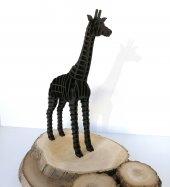 3d Zürafa, 3 Boyutlu Ahşap Puzzle, Dekorasyon, Ahşap Oyuncak,dekorasyon Ürünü