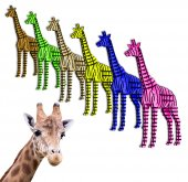 3D Zürafa, 3 Boyutlu Ahşap Puzzle, Dekorasyon, Ahşap Oyuncak,Dekorasyon Ürünü-5