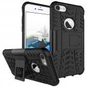 Edelfalke Apple iPhone 7 Kılıf Hibrit Silikon Kapak Siyah