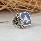 Osmanlı Tuğralı 925 Ayar Gümüş Yüzük