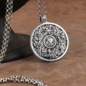 Ayetel Kürs-i Yazılı Gümüş Kolye-2