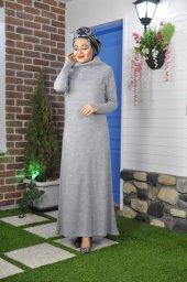 17208 Degaje Yaka Elbise