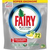 Fairy Platinum 72 Yıkama Bulaşık Makinesi Deterjanı Kapsülü Limon