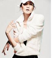 Kadın Lacivert Hırka Sweatshirt, Bayan Peluşlu Polar Sweat
