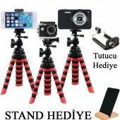 Ahtapot Selfie Tripod Gorillapod Telefon Kamera...