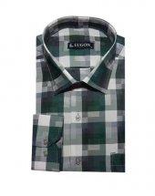 Lugon 0205 Uzun Kol Klasik Battal Erkek Gömlek