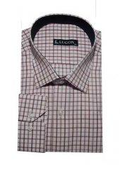 Lugon 0734 Uzun Kol Klasik Battal Erkek Gömlek
