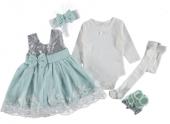 Mevlutluk Elbıse Lux Kız Bebek Su Yeşili