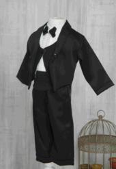 Papyonlu Siyah Erkek Bebe Takım Elbise
