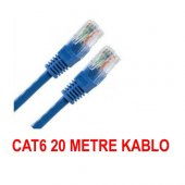 20 Metre Cat6 Patch Kablo Ethernet Fabrikasyon