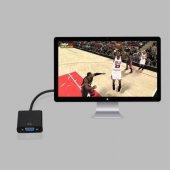 Hdmi To Vga Dönüştürücü Çevirici Kablo Pc Projeksiyon Görüntü-5