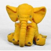 Büyük Uyku Arkadaşım Peluş Yumuşak Fil Sarı 60 Cm