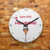 FMC1450 Hemşireye Özel Hediye MDF Ahşap Duvar Saati 39cm