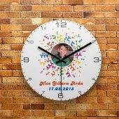 FMC1448 Kişiye Özel Fotoğraflı MDF Ahşap Duvar Saati 39cm