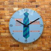 Fmc1447 Babalar Gününe O Zel Hediye Mdf Ahşap Duvar Saati 39cm