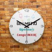 Fmc1417 Geometri Öğretmenine Hediye Mdf Ahşap Duvar Saati 39cm