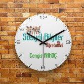 Fmc1399 Sosyal Bilgiler Öğretmenine Hediye Mdf Duvar Saati 39cm