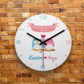Fmc1387 Sevgiliye Özel Dünyanın En Aşık Çifti Mdf Duvar Saati
