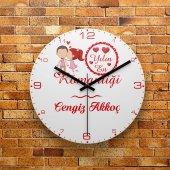 Fmc1341 Kis �iye O Zel Yılın En Romantig İ Mdf Duvar Saati 39cm
