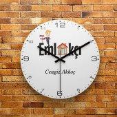 Fmc1308 Emlakçıya Hediye Mdf Ahşap Duvar Saati 39cm