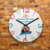 FMC1267 Anneler Gününe Özel Fotoğraflı MDF Duvar Saati 39cm