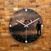 FMC1259 Tasarımlı MDF AHŞAP Duvar Saati 39cm