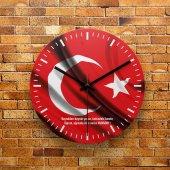 Fmc1224 Tasarımlı Mdf Ahşap Duvar Saati 39cm