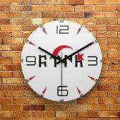 Fmc1222 Tasarımlı Mdf Ahşap Duvar Saati 39cm