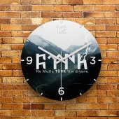 Fmc1215 Tasarımlı Mdf Ahşap Duvar Saati 39cm