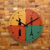Fmc1177 Tasarımlı Mdf Ahşap Duvar Saati 39cm