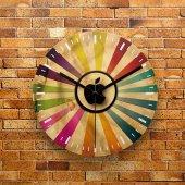 Fmc1175 Tasarımlı Mdf Ahşap Duvar Saati 39cm