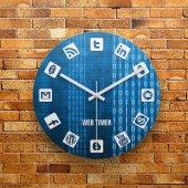 FMC1162 Tasarımlı MDF AHŞAP Duvar Saati 39cm