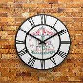 Fmc1142 Tasarımlı Mdf Ahşap Duvar Saati 39cm
