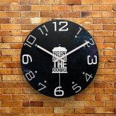 Fmc1149 Tasarımlı Mdf Ahşap Duvar Saati 39cm