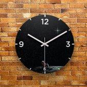 Fmc1112 Tasarımlı Mdf Ahşap Duvar Saati 39cm