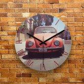 Fmc1132 Tasarımlı Mdf Ahşap Duvar Saati 39cm