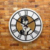 Fmc1117 Tasarımlı Mdf Ahşap Duvar Saati 39cm