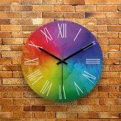 Fmc1093 Tasarımlı Mdf Ahşap Duvar Saati 39cm