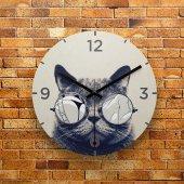 FMC1121 Tasarımlı MDF AHŞAP Duvar Saati 39cm