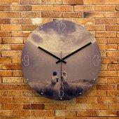 FMC1086 Tasarımlı MDF AHŞAP Duvar Saati 39cm