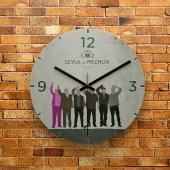Fmc1075 Tasarımlı Mdf Ahşap Duvar Saati 39cm