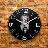 Fmc1054 Tasarımlı Mdf Ahşap Duvar Saati 39cm